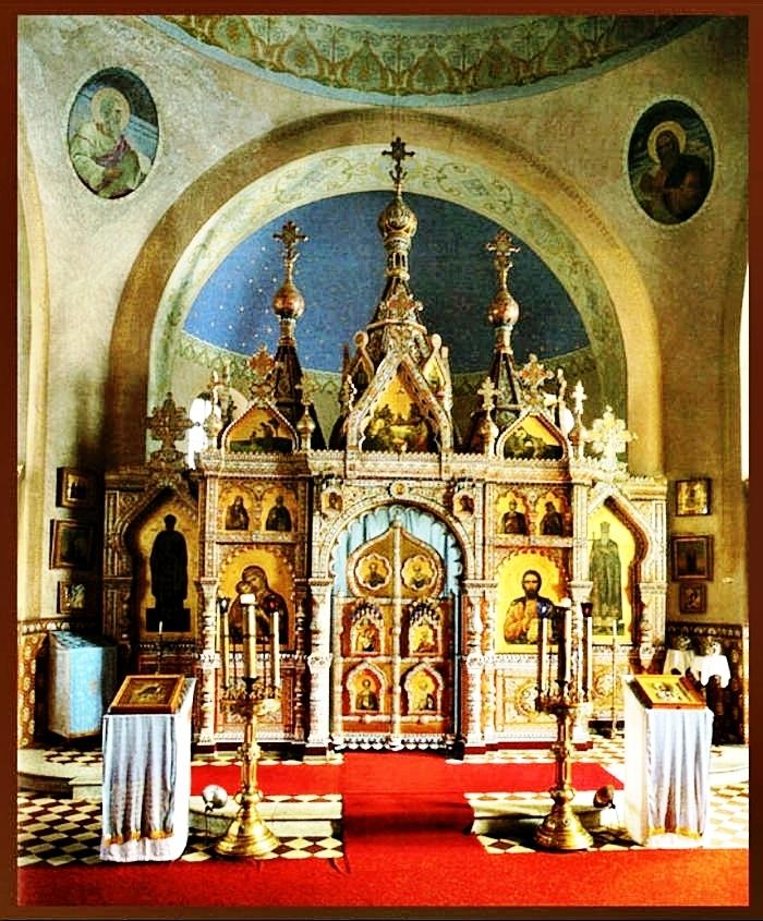 Фарфоровый иконостас в церкви Святого равноапостольного князя Владимира г. Марианске-Лазне в Чехии