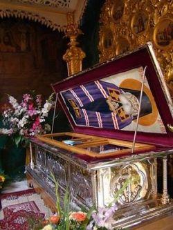 Мощи свт. Луки Крымского в Свято-Троицком соборе г. Симферополя