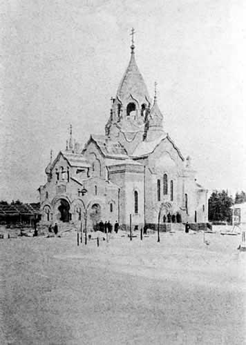Свято-Алексиевская церковь в Тайцах. Фото 1916 г.