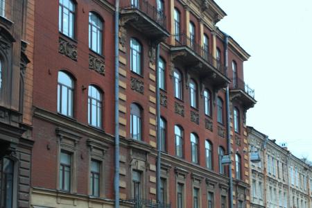 Современный вид здания, Басков переулок, дом 8