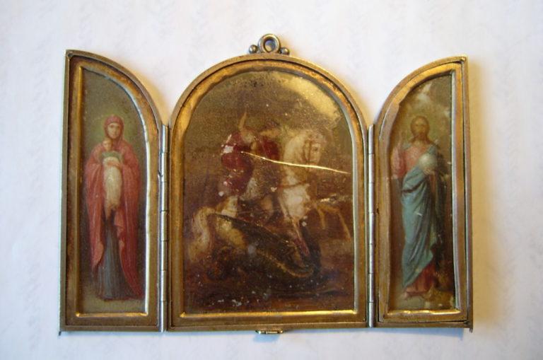Складень, подаренный м. Марией отцу Петру