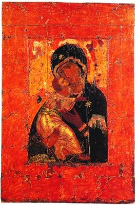 Владимирская икона Божией Матери. Константинополь. До 1130 г. (Церковь свт. Николая в Толмачах при ГТГ)