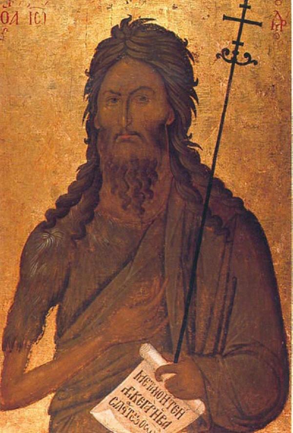 Иоанн Предтеча, икона, XIV в.