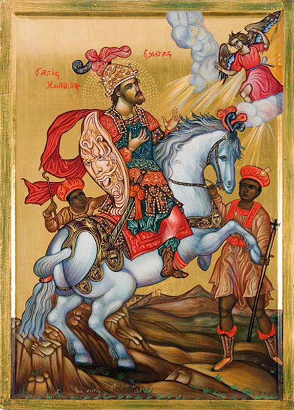 Равноап. царь Константин Великий. Греческая икона, XXI в.
