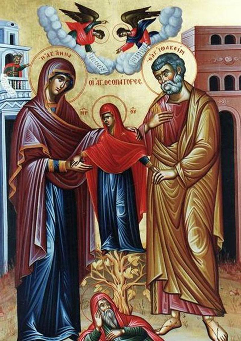 Правв. Богоотцы Иоаким и Анна. Греческая икона (XX-XXI в.)